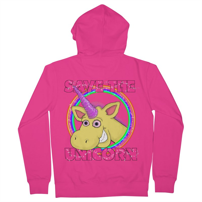Save The Unicorn Men's French Terry Zip-Up Hoody by Loganferret's Artist Shop