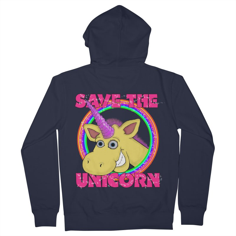 Save The Unicorn Men's Zip-Up Hoody by Loganferret's Artist Shop