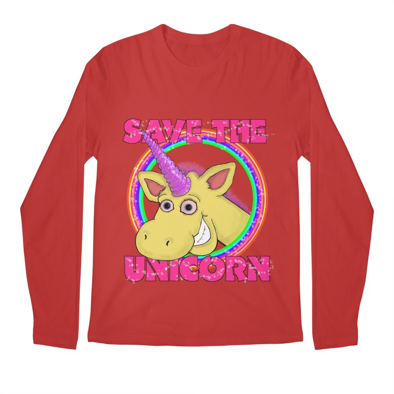 Save The Unicorn Men's Regular Longsleeve T-Shirt by Loganferret's Artist Shop