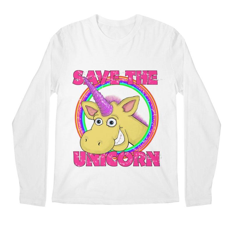 Save The Unicorn Men's Regular Longsleeve T-Shirt by Loganferret's Artist Shop