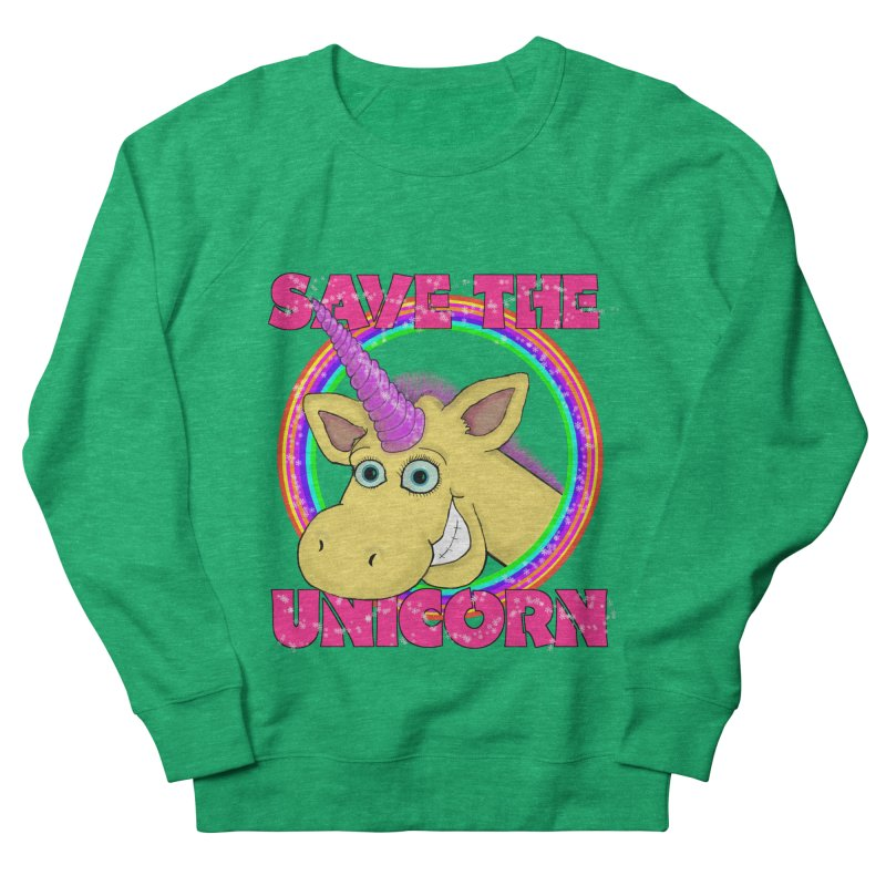 Save The Unicorn Men's French Terry Sweatshirt by Loganferret's Artist Shop