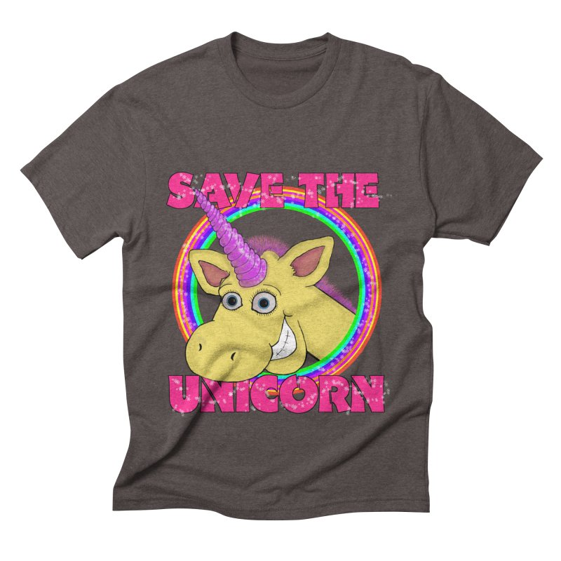 Save The Unicorn Men's Triblend T-Shirt by Loganferret's Artist Shop