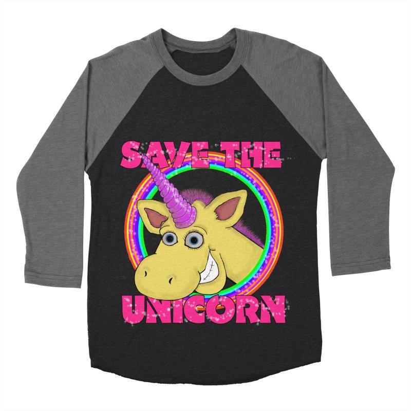 Save The Unicorn Men's Baseball Triblend T-Shirt by Loganferret's Artist Shop