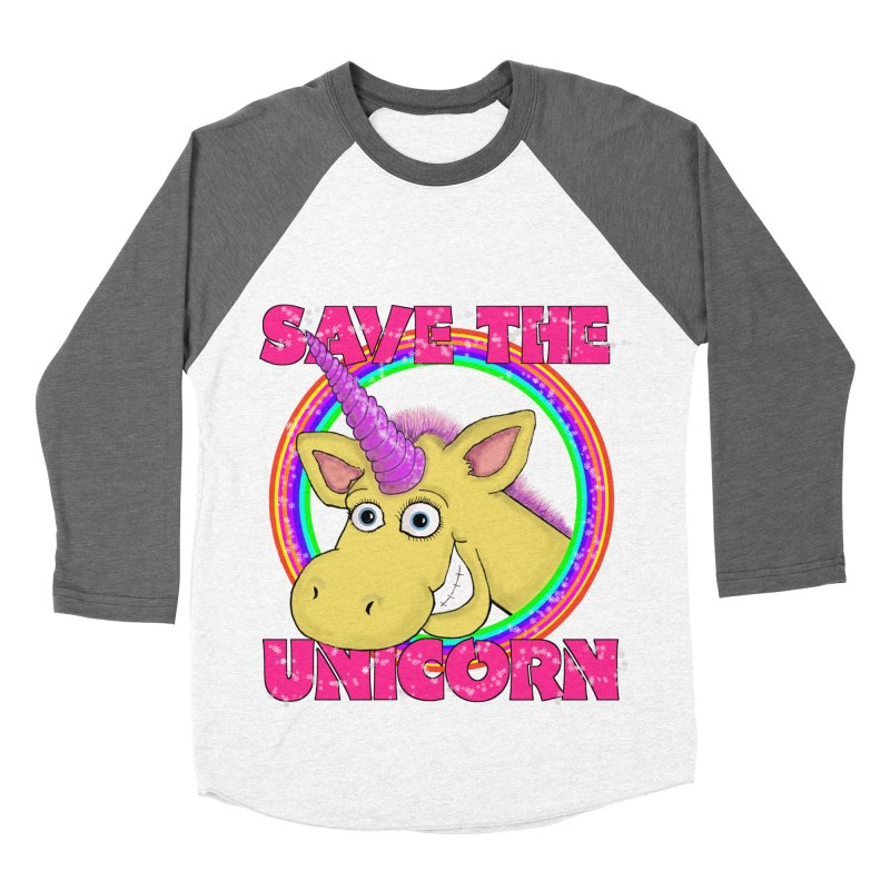 Save The Unicorn Men's Baseball Triblend T-Shirt by Loganferret's Artist Shop