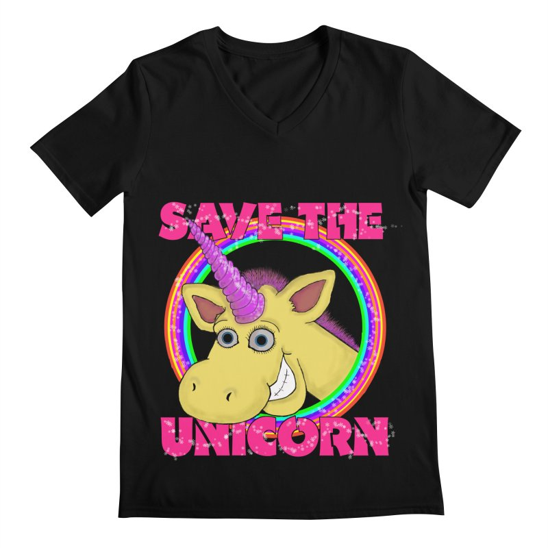 Save The Unicorn Men's V-Neck by Loganferret's Artist Shop