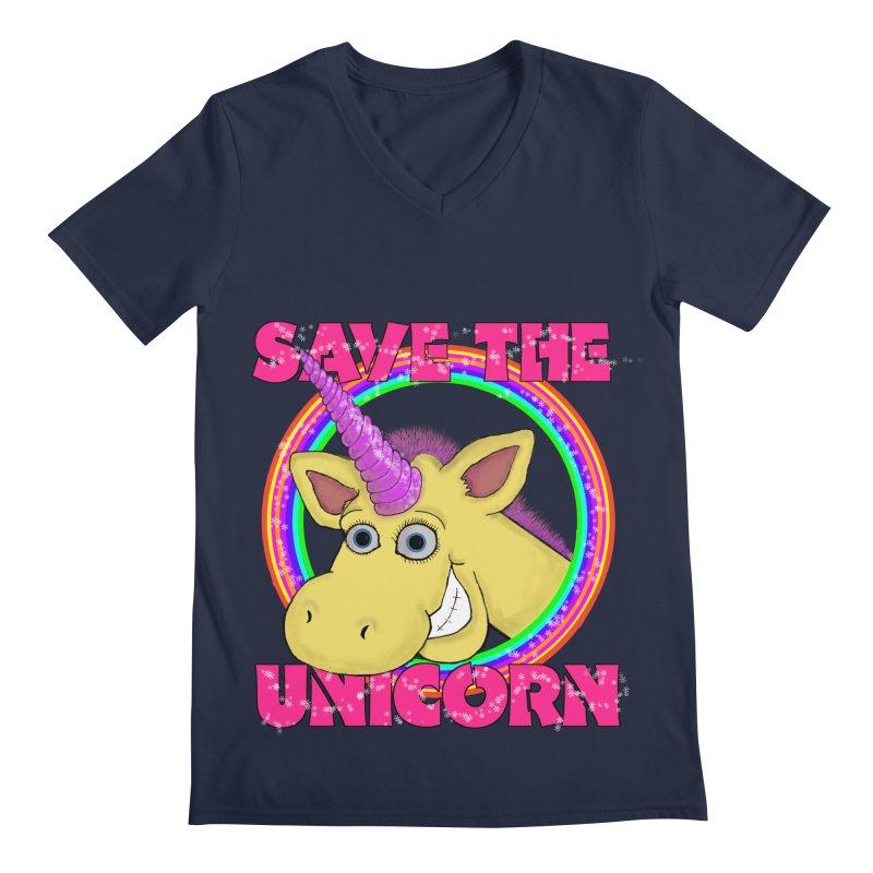 Save The Unicorn Men's V-Neck by Loganferret's Artist Shop
