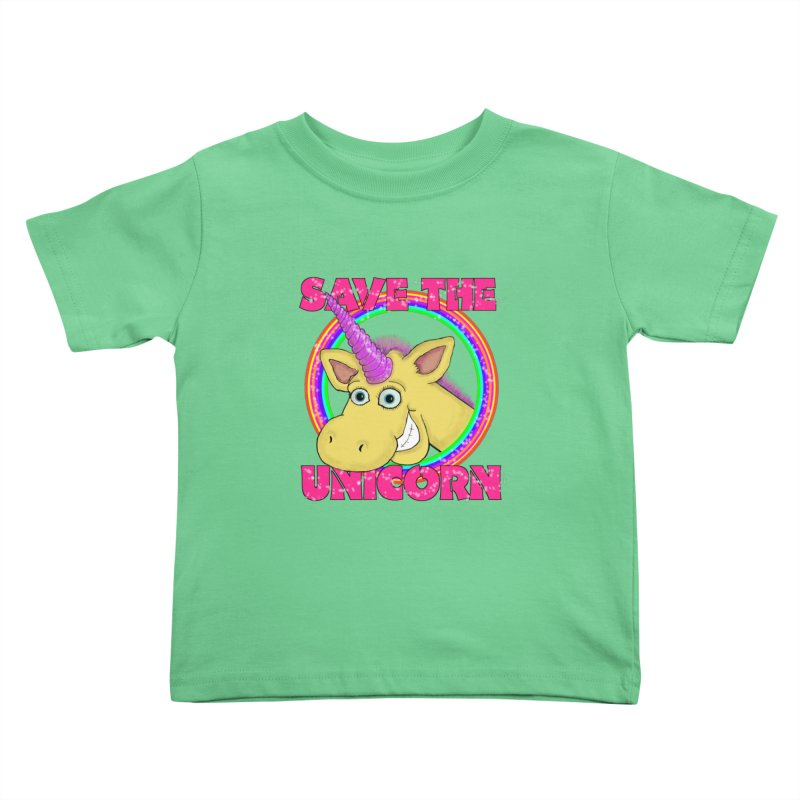 Save The Unicorn Kids Toddler T-Shirt by Loganferret's Artist Shop