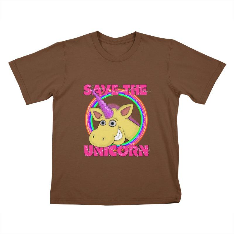 Save The Unicorn Kids T-Shirt by Loganferret's Artist Shop