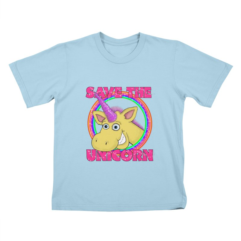 Save The Unicorn Kids T-Shirt by Loganferret's Artist Shop