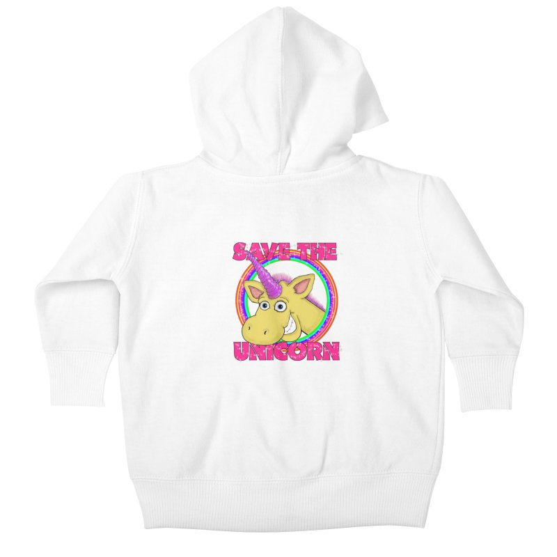 Save The Unicorn Kids Baby Zip-Up Hoody by Loganferret's Artist Shop