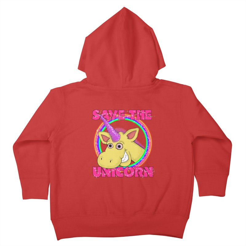Save The Unicorn Kids Toddler Zip-Up Hoody by Loganferret's Artist Shop