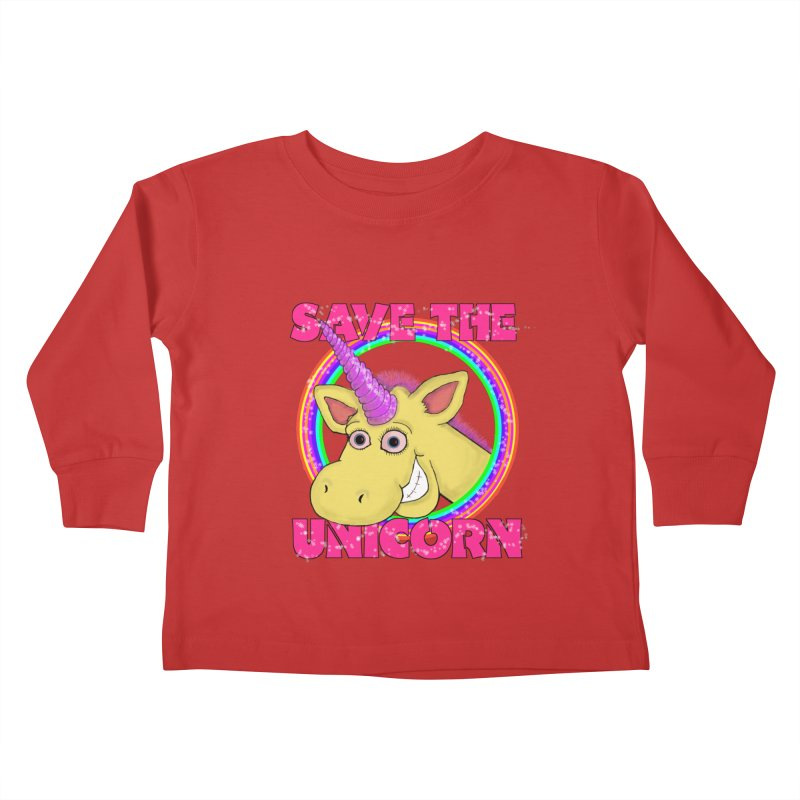 Save The Unicorn Kids Toddler Longsleeve T-Shirt by Loganferret's Artist Shop