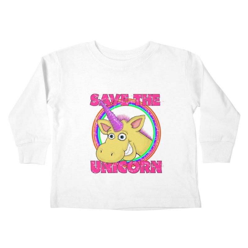 Save The Unicorn Kids Toddler Longsleeve T-Shirt by Loganferret's Artist Shop