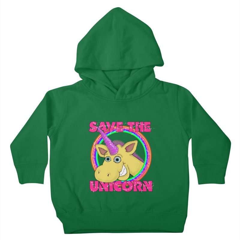 Save The Unicorn Kids Toddler Pullover Hoody by Loganferret's Artist Shop