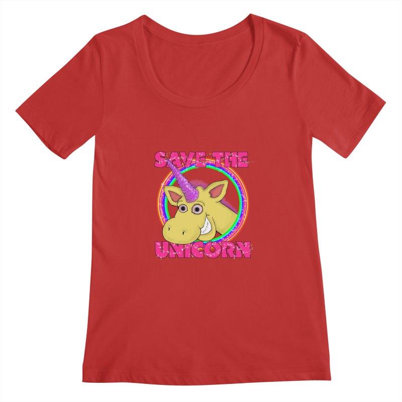 Save The Unicorn Women's Scoopneck by Loganferret's Artist Shop