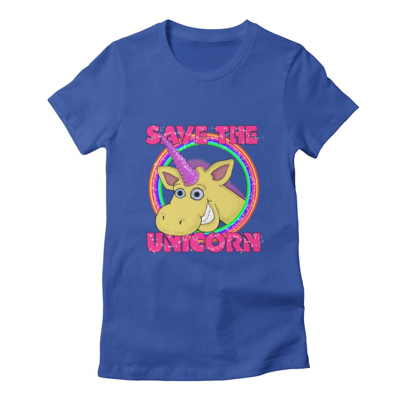 Save The Unicorn Women's Fitted T-Shirt by Loganferret's Artist Shop