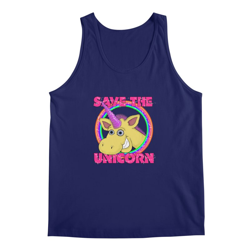 Save The Unicorn Men's Tank by Loganferret's Artist Shop