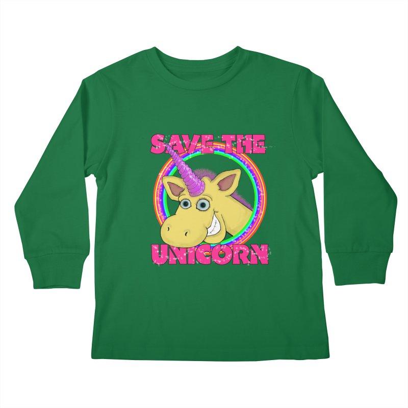 Save The Unicorn Kids Longsleeve T-Shirt by Loganferret's Artist Shop