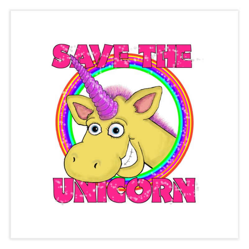 Save The Unicorn Home Fine Art Print by Loganferret's Artist Shop