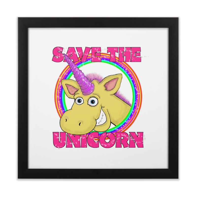 Save The Unicorn Home Framed Fine Art Print by Loganferret's Artist Shop