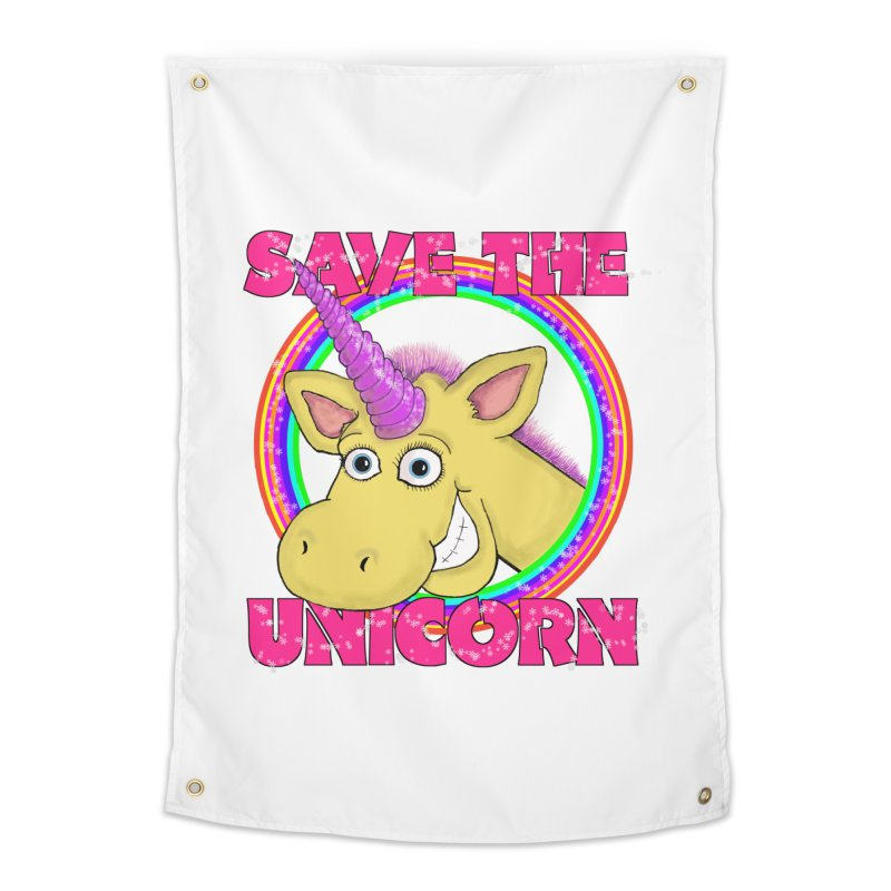 Save The Unicorn Home Tapestry by Loganferret's Artist Shop