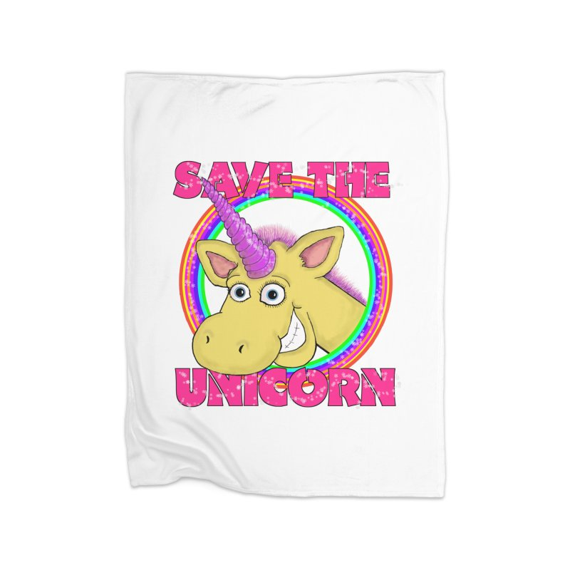 Save The Unicorn Home Blanket by Loganferret's Artist Shop