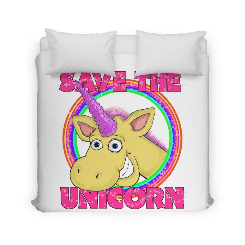 Save The Unicorn Home Duvet by Loganferret's Artist Shop
