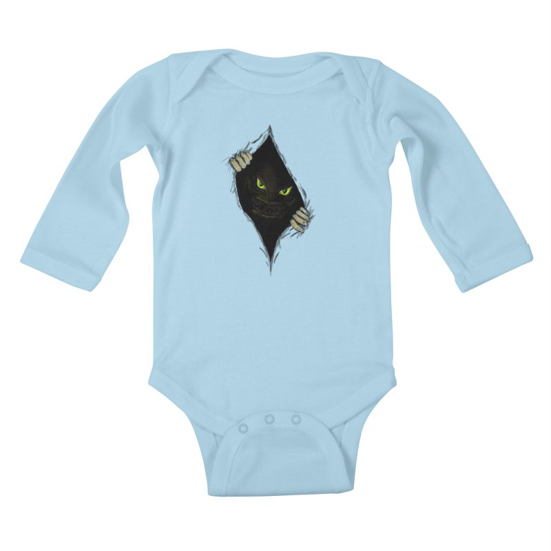 Do Not Open Kids Baby Longsleeve Bodysuit by Loganferret's Artist Shop