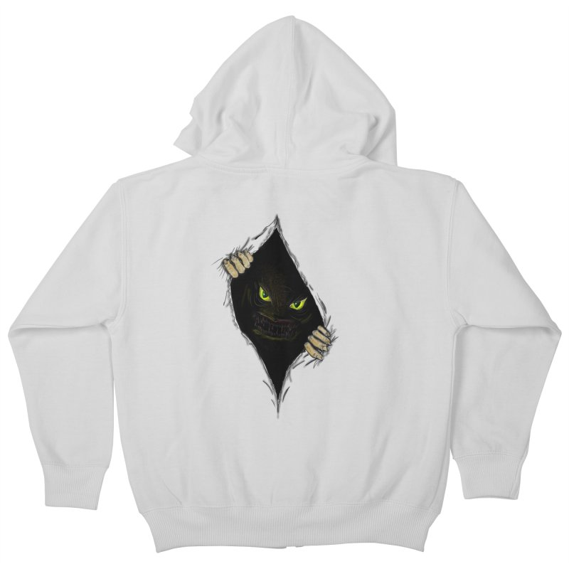 Do Not Open Kids Zip-Up Hoody by Loganferret's Artist Shop