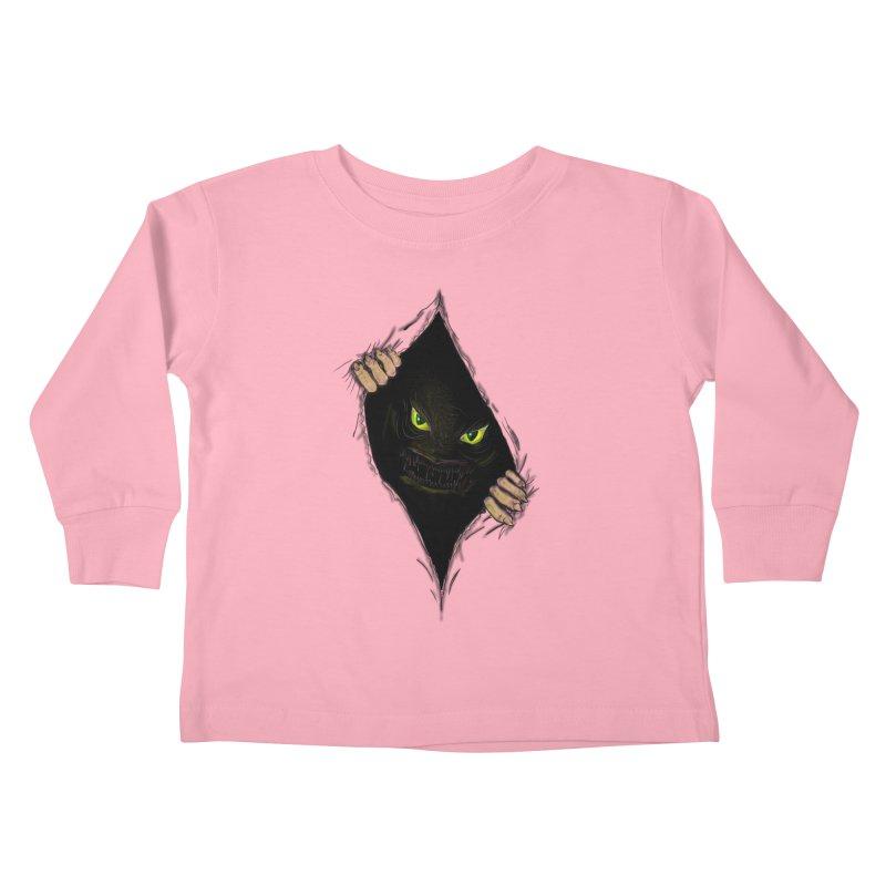 Do Not Open Kids Toddler Longsleeve T-Shirt by Loganferret's Artist Shop