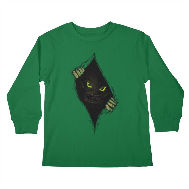 Do Not Open Kids Longsleeve T-Shirt by Loganferret's Artist Shop