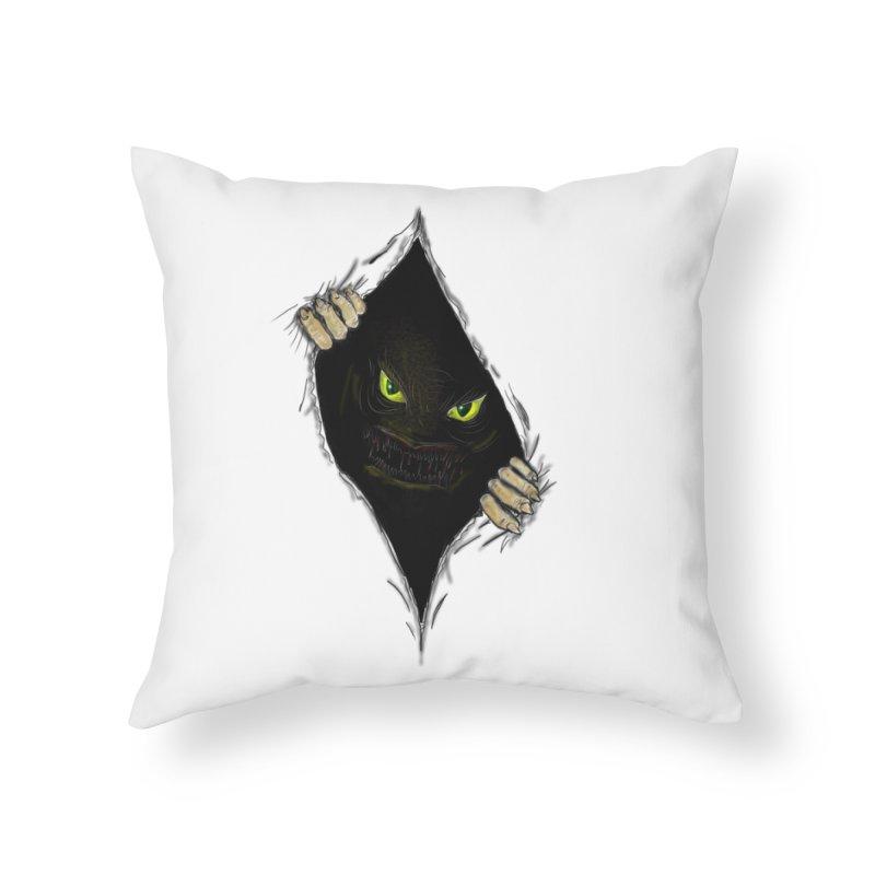 Do Not Open Home Throw Pillow by Loganferret's Artist Shop