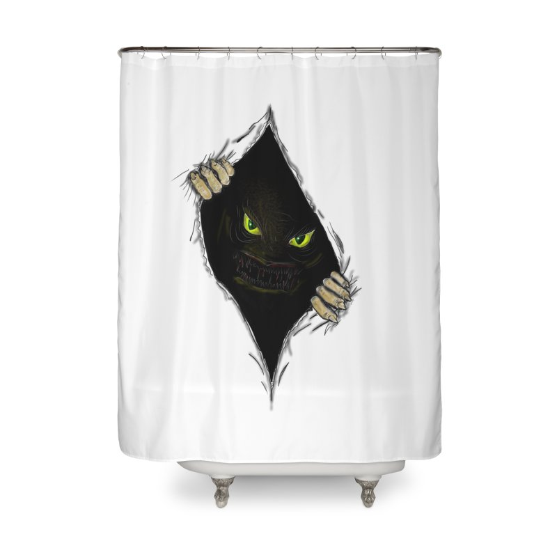 Do Not Open Home Shower Curtain by Loganferret's Artist Shop