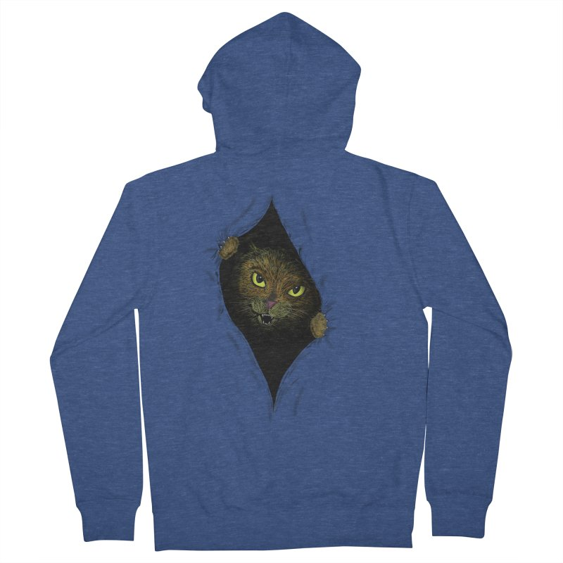Cat Flap? Men's French Terry Zip-Up Hoody by Loganferret's Artist Shop