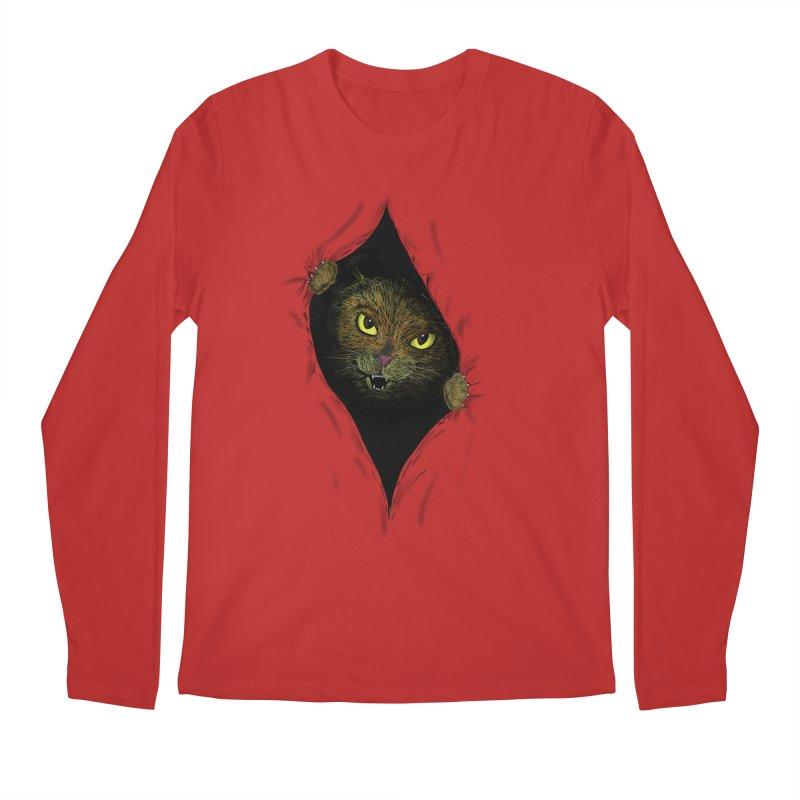 Cat Flap? Men's Regular Longsleeve T-Shirt by Loganferret's Artist Shop