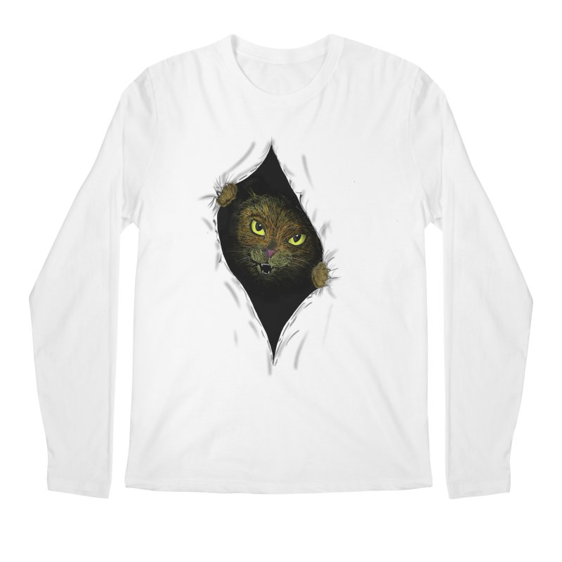 Cat Flap? Men's Regular Longsleeve T-Shirt by Loganferret's Artist Shop