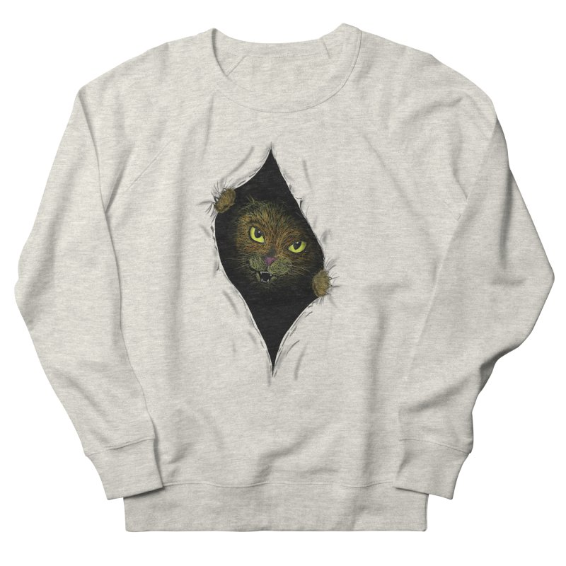 Cat Flap? Men's French Terry Sweatshirt by Loganferret's Artist Shop