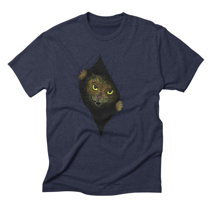 Cat Flap? Men's Triblend T-shirt by Loganferret's Artist Shop