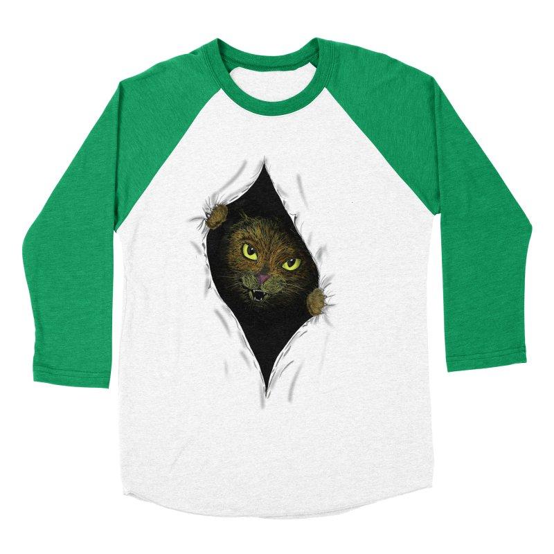 Cat Flap? Women's Baseball Triblend T-Shirt by Loganferret's Artist Shop