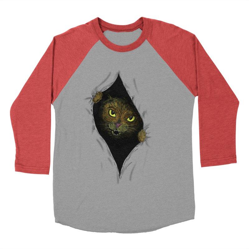 Cat Flap? Men's Baseball Triblend T-Shirt by Loganferret's Artist Shop