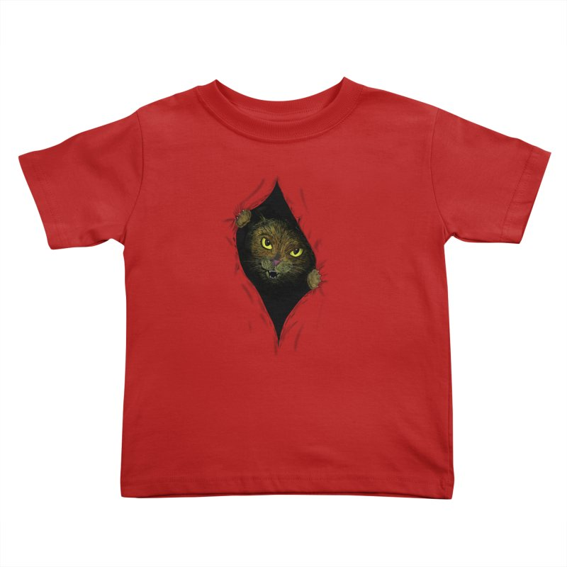 Cat Flap? Kids Toddler T-Shirt by Loganferret's Artist Shop
