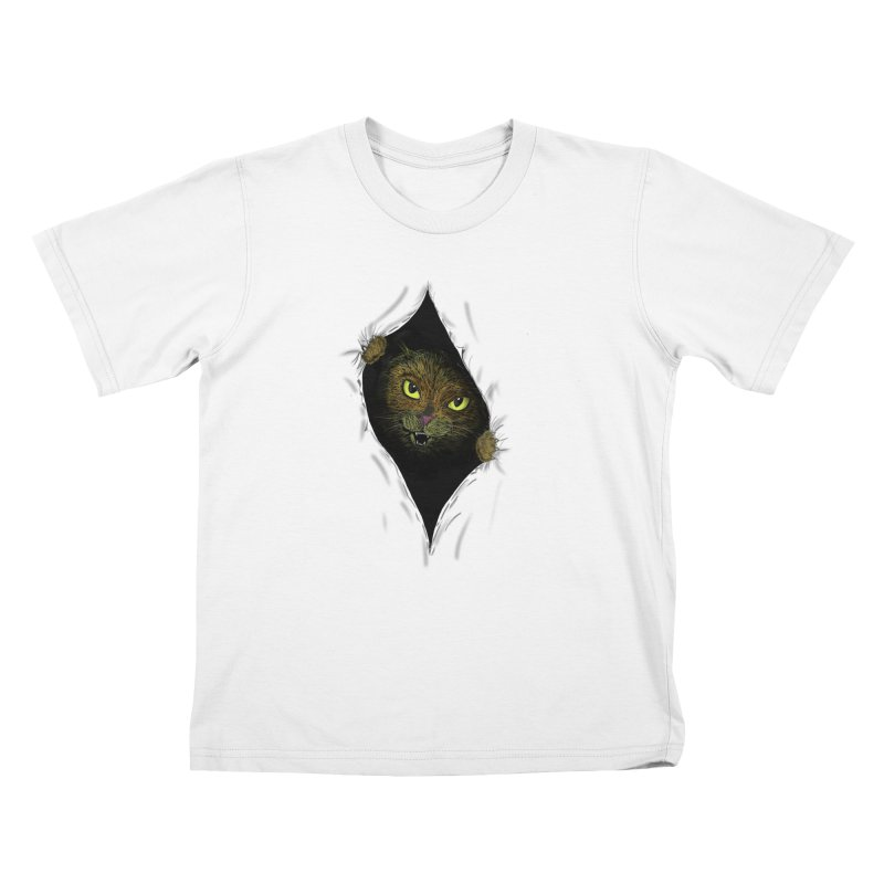 Cat Flap? Kids T-Shirt by Loganferret's Artist Shop