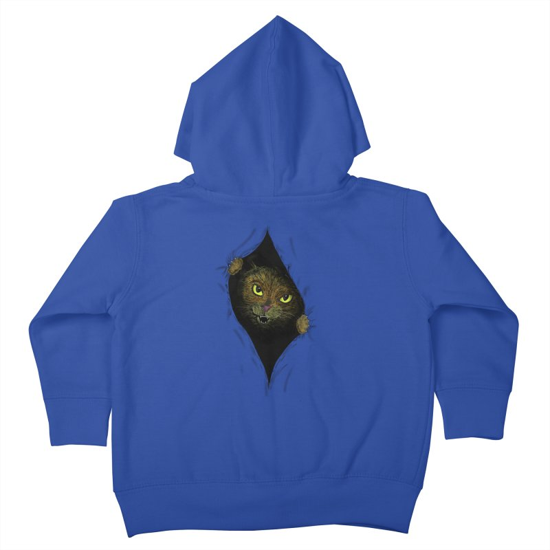 Cat Flap? Kids Toddler Zip-Up Hoody by Loganferret's Artist Shop