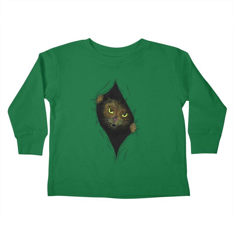 Cat Flap? Kids Toddler Longsleeve T-Shirt by Loganferret's Artist Shop