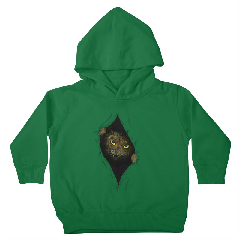 Cat Flap? Kids Toddler Pullover Hoody by Loganferret's Artist Shop