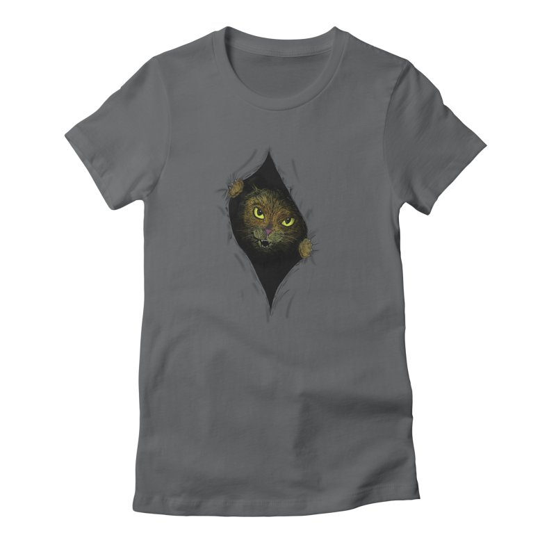 Cat Flap? Women's Fitted T-Shirt by Loganferret's Artist Shop