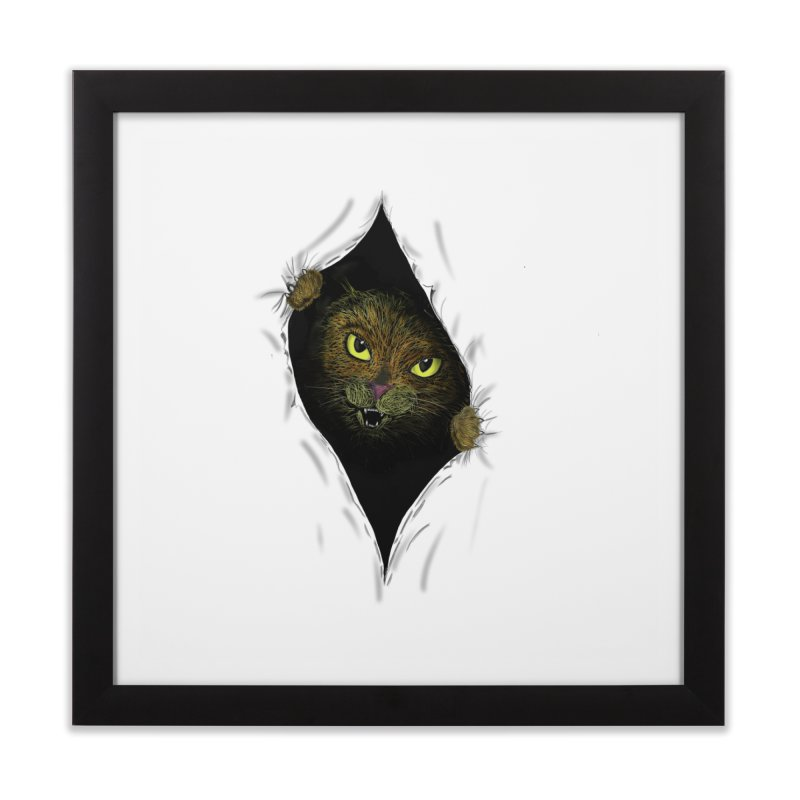 Cat Flap? Home Framed Fine Art Print by Loganferret's Artist Shop