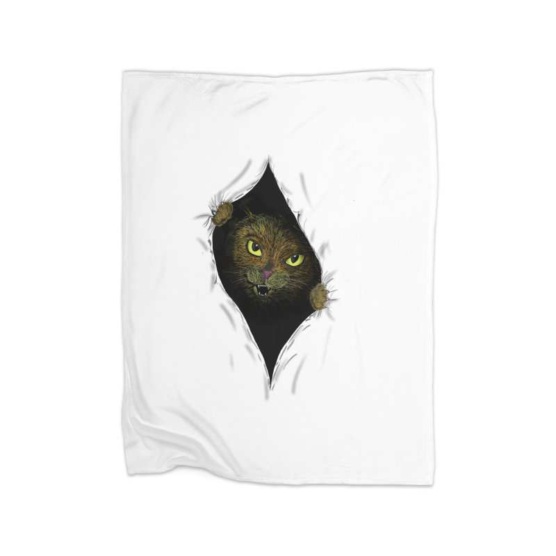 Cat Flap? Home Blanket by Loganferret's Artist Shop