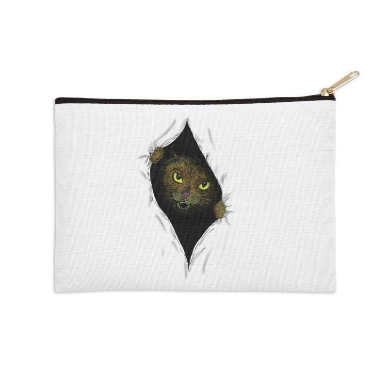 Cat Flap? Accessories Zip Pouch by Loganferret's Artist Shop