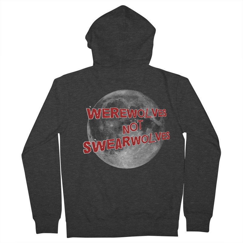 Werewolves not Swearwolves Women's French Terry Zip-Up Hoody by Loganferret's Artist Shop
